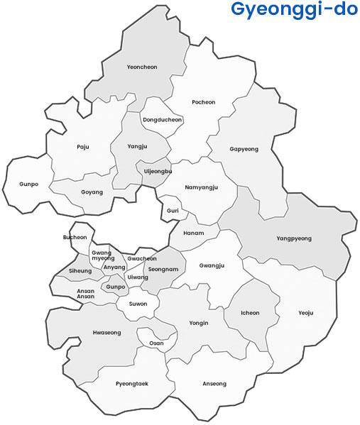 Gyeonggi-do map